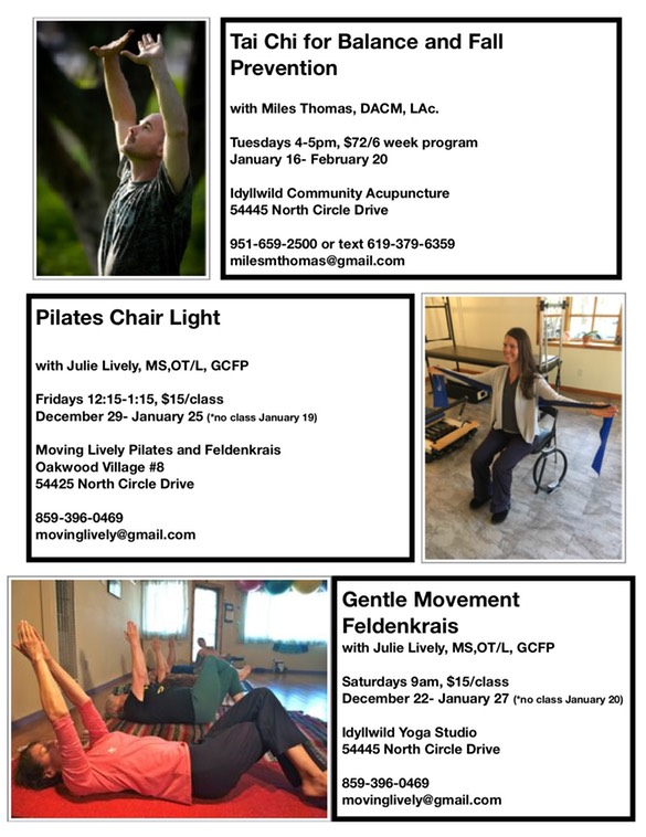 Tai Chi, Pilates, and Feldenkrais
